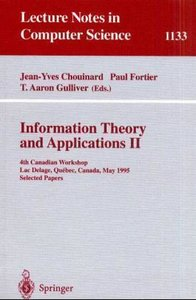Information Theory and Applications II