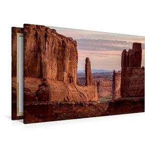 Premium Textil-Leinwand 120 cm x 80 cm quer Arches National Park