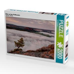 CALVENDO Puzzle Blick auf den Pfaffenstein 2000 Teile Lege-Größe