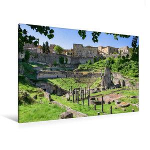 Premium Textil-Leinwand 120 cm x 80 cm quer Volterra: Der Bau de
