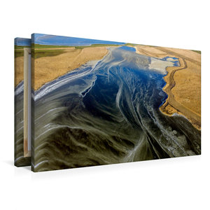 Premium Textil-Leinwand 90 cm x 60 cm quer Frostiger Hauke-Haien