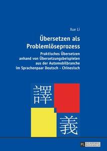 Übersetzen als Problemlöseprozess