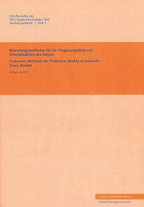 Bewertungsmethoden für die Prognosequalität von Kriechmodellen d