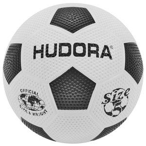 Hudora 71684/01 - Fußball Street aus Gummi, Größe 5