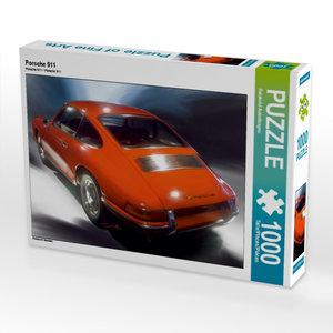 Porsche 911 1000 Teile Puzzle quer