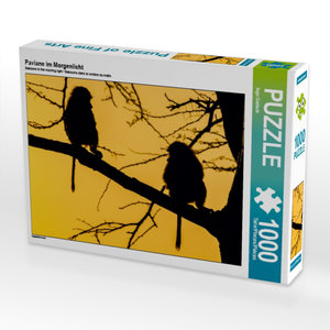 Paviane im Morgenlicht 1000 Teile Puzzle quer
