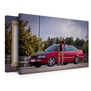 Premium Textil-Leinwand 45 cm x 30 cm quer Scharfer Boxenstopp