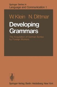 Developing Grammars