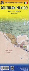 Topograpische Karte Mexico South