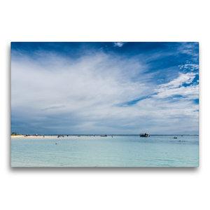 Premium Textil-Leinwand 75 cm x 50 cm quer Coral Bay