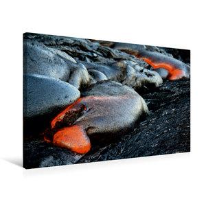 Premium Textil-Leinwand 75 cm x 50 cm quer Pahoehoe Lava