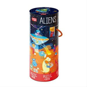 Puzzle Aliens 100 Teile mit Poster als Puzzlevorlage