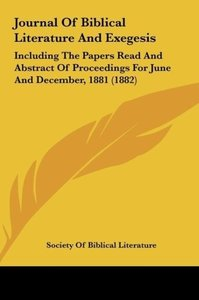Journal Of Biblical Literature And Exegesis