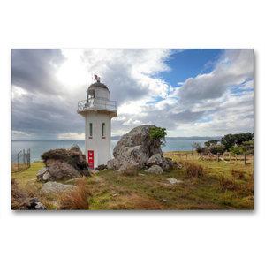 Premium Textil-Leinwand 90 cm x 60 cm quer Baring Head Lighthous