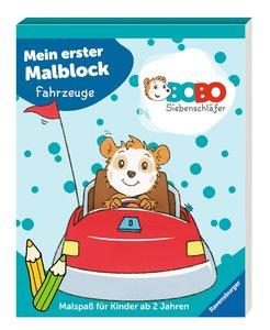 Bobo Siebenschläfer: Mein erster Malblock Fahrzeuge