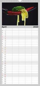 Hot Chili Küchen Kalender - Familienplaner hoch (Wandkalender 20
