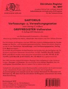 Sartorius 1: Verfassungs- und Verwaltungsgesetze, 128 Griffregis