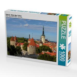 Estland - Blick über Tallinn 1000 Teile Puzzle quer