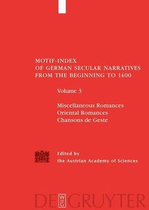 Motif-Index of German Secular Narratives from the Beginning to 1