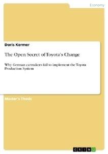 The Open Secret of Toyota's Change
