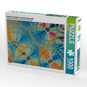 Vitamin C Kristalle in polarisiertem Licht 1000 Teile Puzzle que
