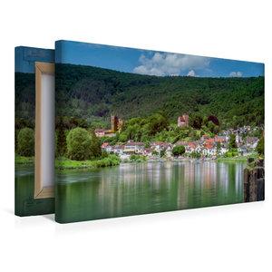 Premium Textil-Leinwand 45 cm x 30 cm quer Neckarsteinach - Die