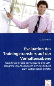 Evaluation des Trainingstransfers auf der Verhaltensebene