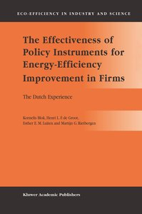 The Effectiveness of Policy Instruments for Energy-Efficiency Im