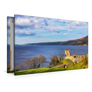 Premium Textil-Leinwand 120 cm x 80 cm quer Urquhart Castle