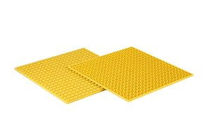 4x Bauplatte gelb 20x20 Noppen, 16x16xcm - Basis für Spielzeugba