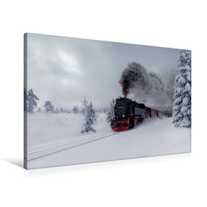Premium Textil-Leinwand 90 cm x 60 cm quer Harzer Schmalspurbahn