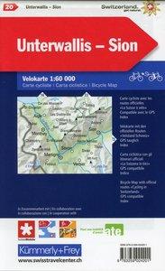 Radwanderkarte Bas Valais - Sion mit Ortsindex (20)