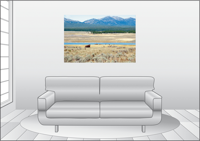 Premium Textil-Leinwand 120 cm x 80 cm quer Wandbild Hayden Vall - zum Schließen ins Bild klicken