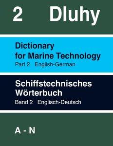 Schiffstechnisches Wörterbuch Eng. - Dtsch.