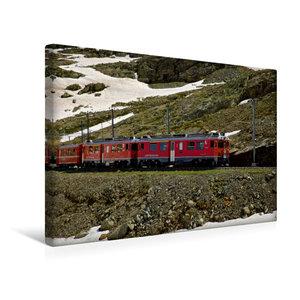Premium Textil-Leinwand 45 cm x 30 cm quer Rhätische Bahn