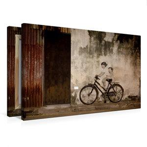 Premium Textil-Leinwand 75 cm x 50 cm quer Straßenkunst in Georg