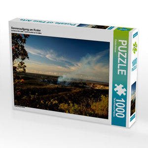 Sonnenaufgang am Krater 1000 Teile Puzzle quer