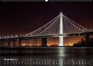 San Francisco Impressionen Tag und Nacht (Wandkalender 2019 DIN