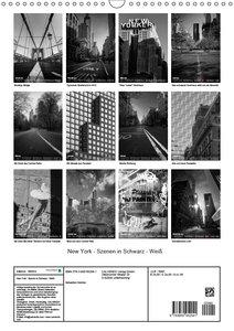 New York - Szenen in Schwarz - Weiß (Wandkalender 2019 DIN A3 ho