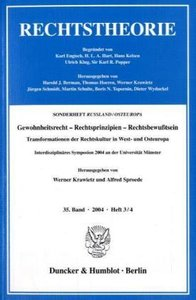 Gewohnheitsrecht - Rechtsprinzipien - Rechtsbewusstsein