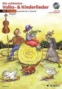 Die schönsten Volks- und Kinderlieder für Violine. Notenausgabe