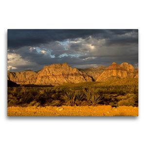 Premium Textil-Leinwand 75 cm x 50 cm quer Red Rocks, Nevada