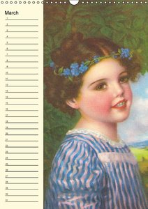Flower Kids (UK-Version) (Wall Calendar perpetual DIN A3 Portrai