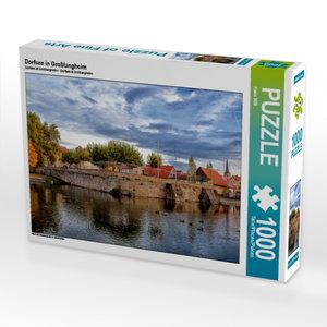 Dorfsee in Großlangheim 1000 Teile Puzzle quer