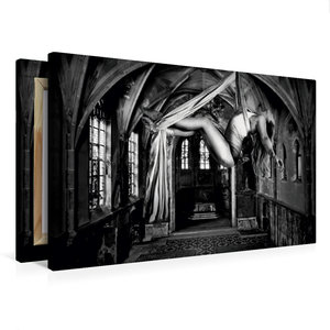Premium Textil-Leinwand 75 cm x 50 cm quer Lost Places and Women