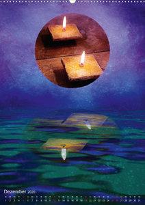 Spirituelle Wasserspiegelungen (Wandkalender 2020 DIN A2 hoch)