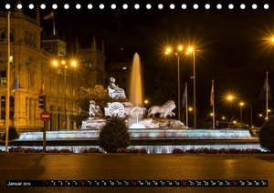 Madrid bei Nacht (Tischkalender 2019 DIN A5 quer)