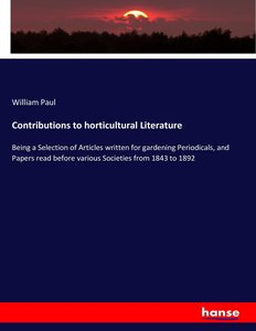 Contributions to horticultural Literature