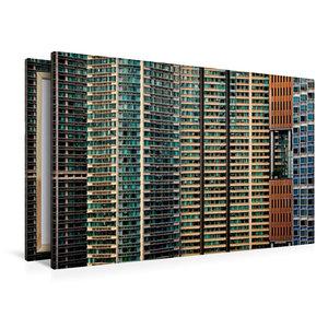 Premium Textil-Leinwand 120 cm x 80 cm quer Hong Kong; Harbour P