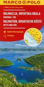 MARCO POLO Karte Kroatische Küste Mitte und Süd 1: 200 000